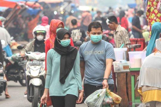 Kabut asap pekat, ada himbauan menggunakan masker di Pekanbaru