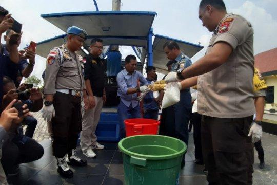 Polres Bintan memusnahkan barang bukti sabu-sabu seberat 114,7 kg