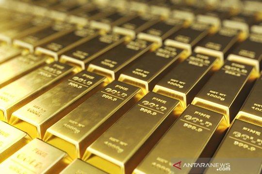 """Emas """"rebound"""" terangkat penurunan dolar dan harapan paket bantuan AS"""