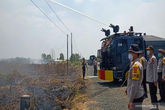 Lahan di Guntung Damar Banjarbaru berkobar lagi