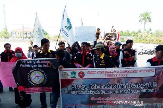 Warga demo pertanyakan kelanjutan pembangunan RSUD Baturaja OKU