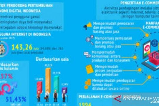 BPS ungkap e-commerce berkontribusi dua persen konsumsi rumah tangga