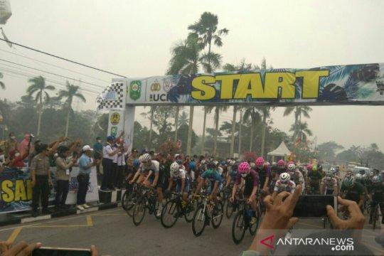 Tour de Siak, pebalap Indonesia Reno Yudha menangi etape II