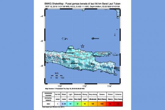 Getaran gempa Jatim dirasakan warga di Yogyakarta