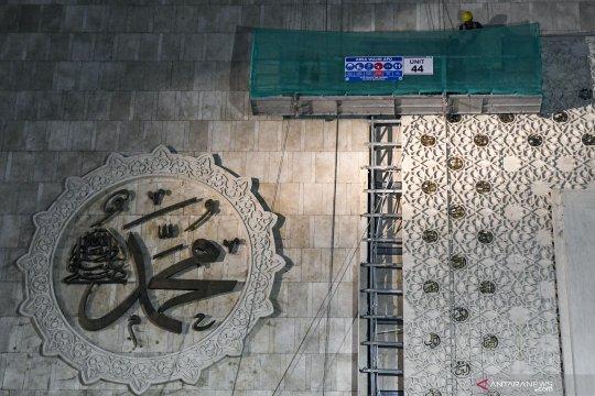 Renovasi dan perbaikan struktur bangunan masjid Istiqlal