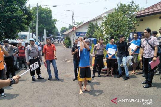 Polres Cianjur gelar rekontruksi ulang aksi mahasiswa