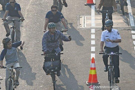 Bangun jalur sepeda hingga 63 km, Anies ingin Jakarta ramah bersepeda