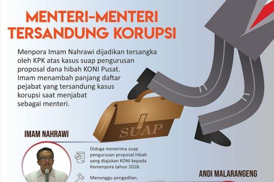 Menteri-menteri tersandung korupsi