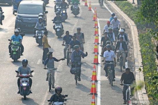Jalur sepeda hanya berupa garis, DKI jelaskan fungsi hingga sanksinya