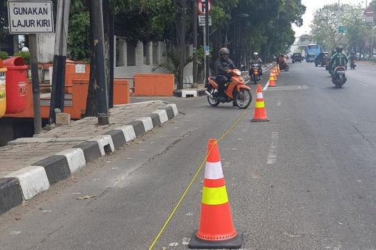 Jakarta Timur, jalur khusus sepeda belum steril kendaraan