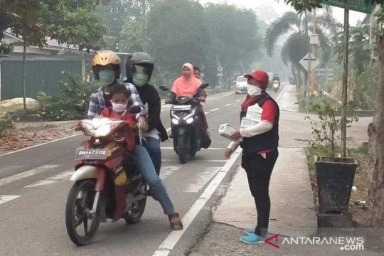 PMI Riau sebar 70 ribu masker untuk warga terdampak asap