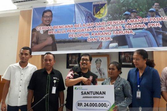 BPJS-TK santuni peserta padat karya korban bencana di Kabupaten Sigi