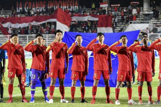 Babak pertama Indonesia versus China berakhir tanpa gol