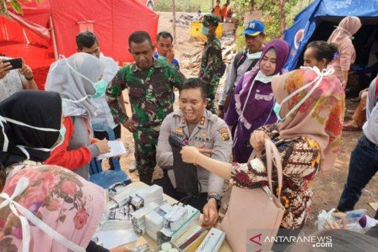 Personel satgas karhutla Ogan Komering Ilir periksa kesehatan
