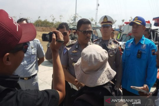 Polres Slawi olah TKP kecelakaan tol Pejagan-Pemalang