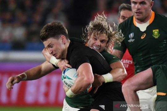 Selandia Baru susah payah atasi Afsel di Piala Dunia Rugby