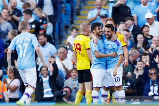 Manchester City masukkan delapan gol ke gawang Watford tanpa balas