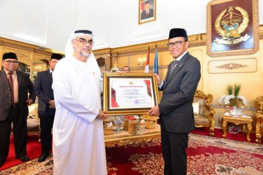 Gubernur Sulsel beri anugerah kehormatan kepada Syeikh Al-Khoory