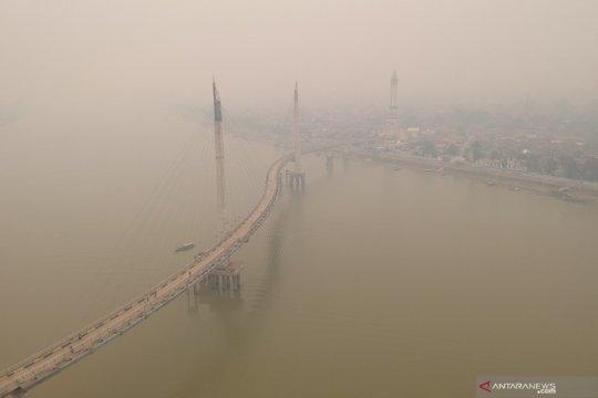 Kabut asap bertambah pekat di Kota Jambi
