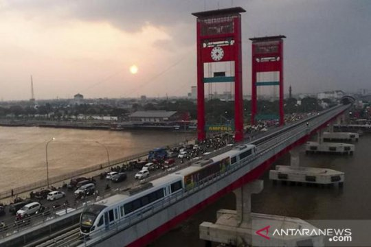 LRT Palembang uji coba pengurangan waktu tempuh