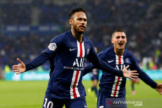 Neymar cetak gol lagi, bukan salto tapi bikin PSG menang atas Lyon