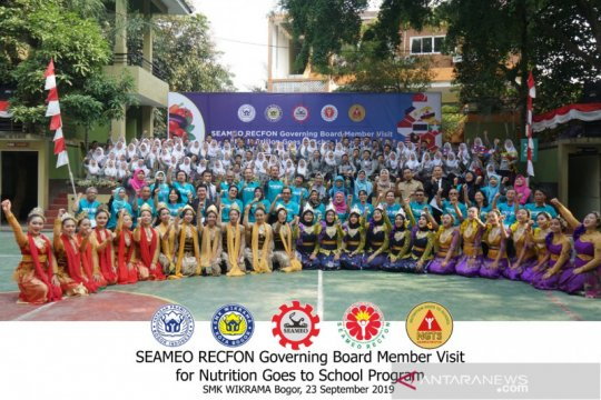 SMK Wikrama dikunjungi delegasi Pusat Regional Pangan-Gizi ASEAN