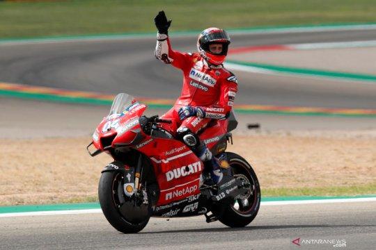 Dovizioso patah tulang selangka setelah kecelakaan motocross di Italia
