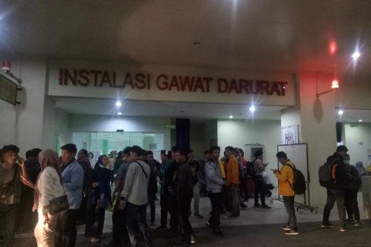 28 mahasiswa dilarikan ke rumah sakit akibat ricuh di DPRD Sumsel