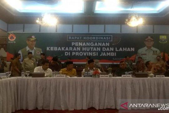 Kepala BNPB pimpin rakor Kahutla di Jambi