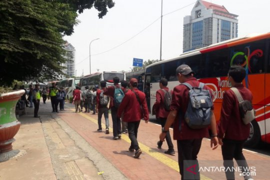 "Demo mahasiswa, Kampus Trisakti jadi titik kumpul ""long march"" ke DPR"