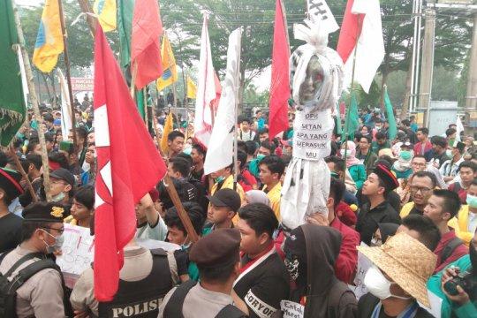Demo mahasiswa, di Kalteng mereka tolak RUU Pertanahan