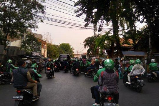 Demo mahasiswa, pengemudi ojol kesulitan layani pesanan penumpang