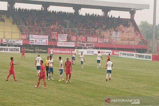 Kalteng Putra vs PSIS sementara 0-0 pada babak pertama