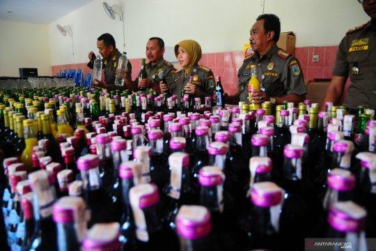Rilis hasil razia minuman keras di Kudus