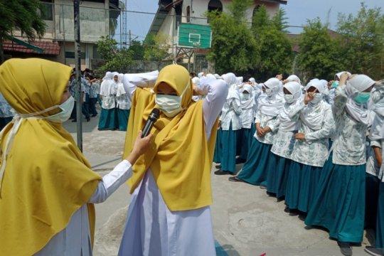 Dinkes Aceh Barat sosialisasikan penggunaan masker untuk pelajar