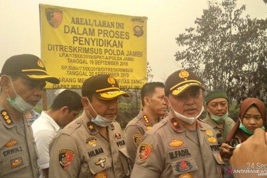 Kasus Karhutla, Polri segel lahan seluas 972 hektar milik PT MAS