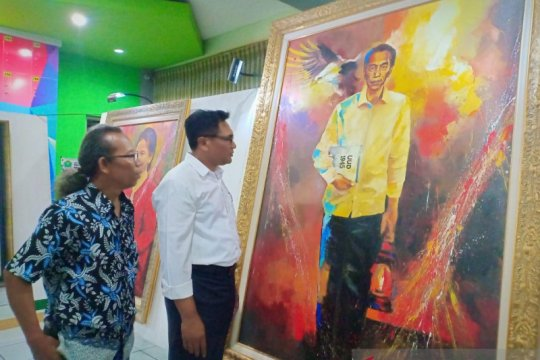 Presiden Jokowi Tokoh Bangsa dalam kanvas pelukis Jupri Abdullah