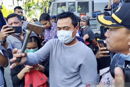 Aksi massa di DPRD Jatim sempat memanas