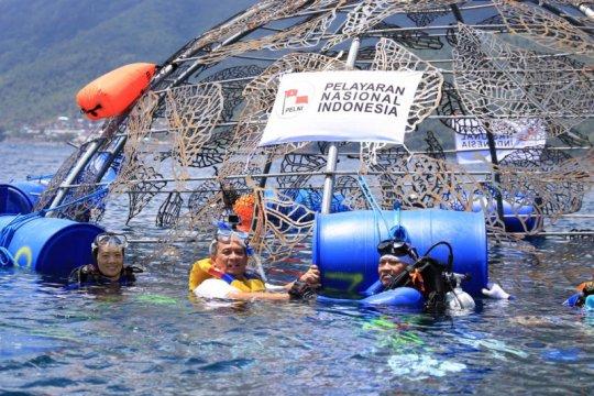 Pelni gelontorkan Rp775 juta tanam terumbu karang di Ternate