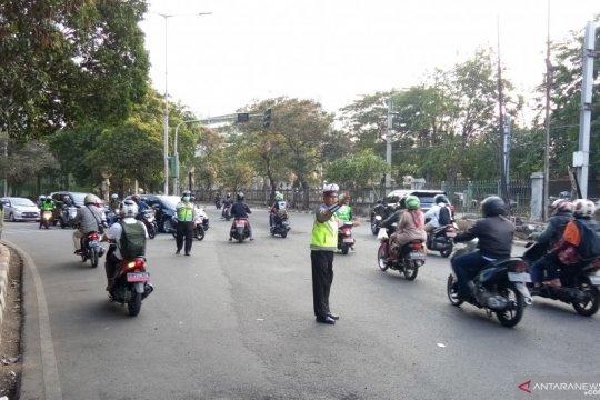 Polres Metro Jakbar patroli di kawasan Palmerah
