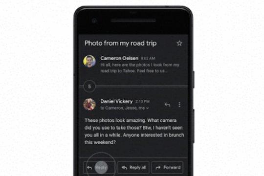 Gmail dengan tema gelap meluncur di Android dan iOS