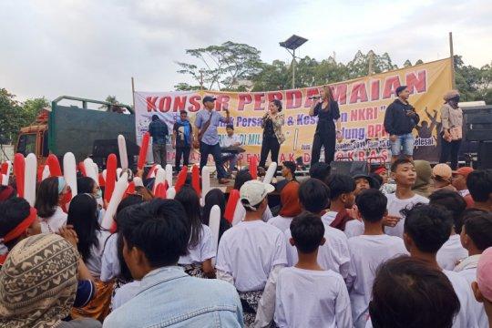 Aksi konser damai hibur Kapolrestro Jakarta Pusat