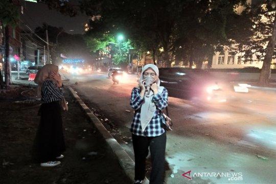 Suasana kawasan DPRD Sumut kembali normal pascakericuhan demonstrasi