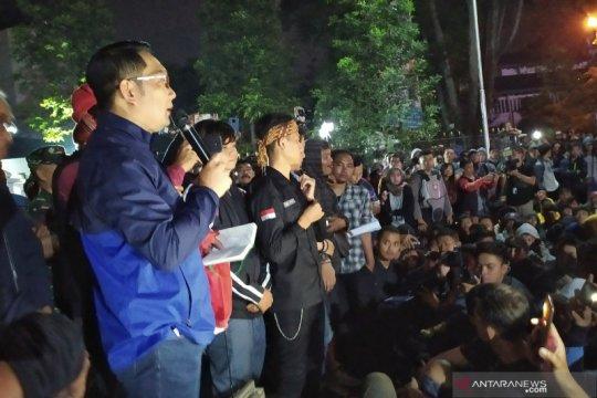 Ridwan Kamil berjanji akan sampaikan aspirasi mahasiswa