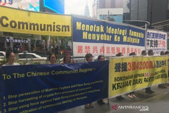 Unjuk rasa menolak komunisme berlangsung di Bukit Bintang