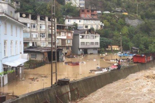 Hujan lebat akibatkan banjir bandang di Turki