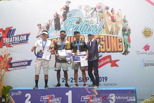 Daniel Frans juarai Rhino Cross Triathlon 2019