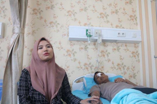 Anggota Brimob korban pelemparan batu pedemo dirawat di RS Sukanto
