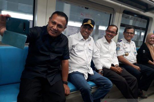 Menteri Perhubungan tes kecepatan baru LRT Palembang