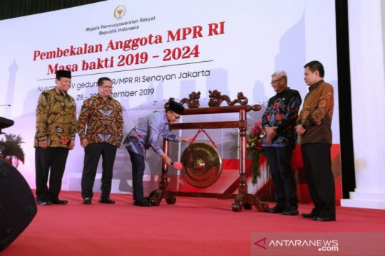 Anggota DPR dan DPD terpilih ikut pembekalan Empat Pilar MPR